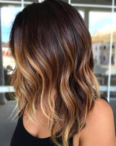 2-dark-brown-bob-with-caramel-balayage