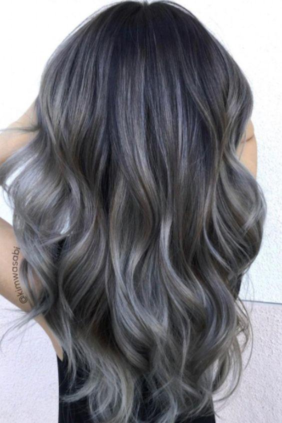 charcoal hair, capelli grigi, capelli carbone 2017