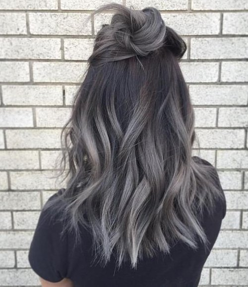 charcoal hair, capelli grigi, capelli carbone 2017