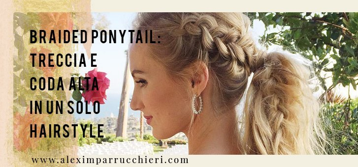 acconciatura braided ponytail