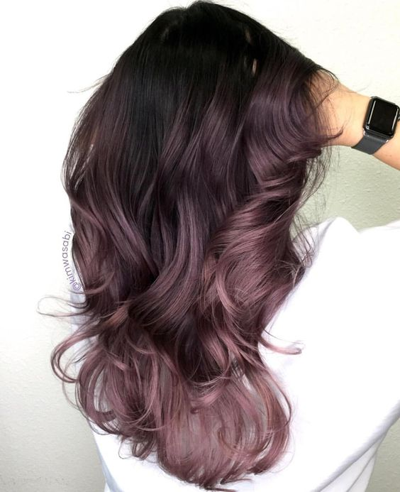 dark mauve hair