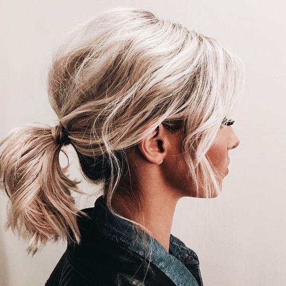 raccolto con ciuffi laterali, hair tendrils
