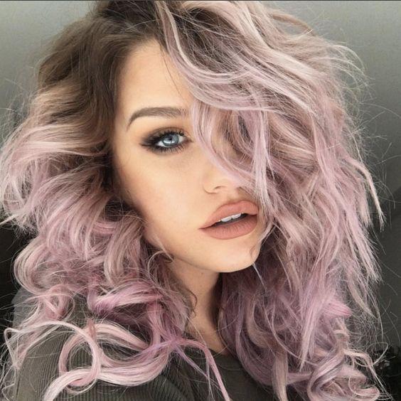 capelli colorati 2018, colorazioni pop