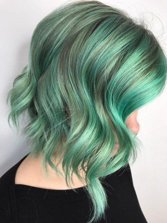 capelli color menta