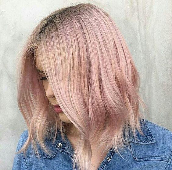 vanilla lilac hair