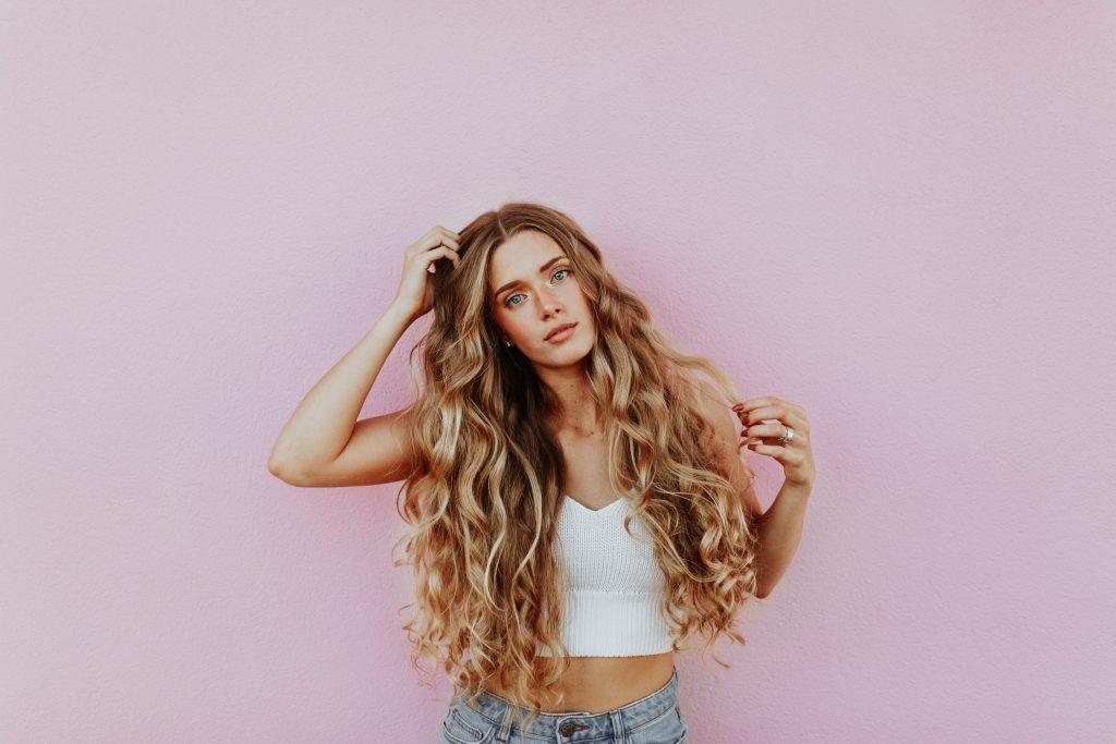balayage capelli ricci