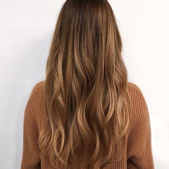 capelli castani sfumati
