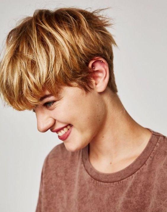 capelli corti stile boyish