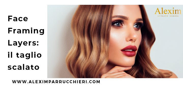 tendenze capelli scalati, face-framing layers